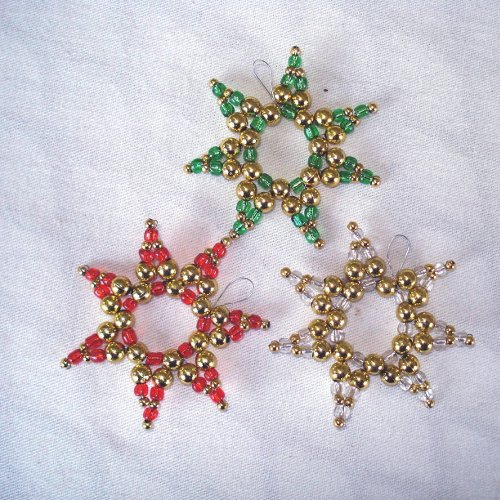 Christmas crafts from beads